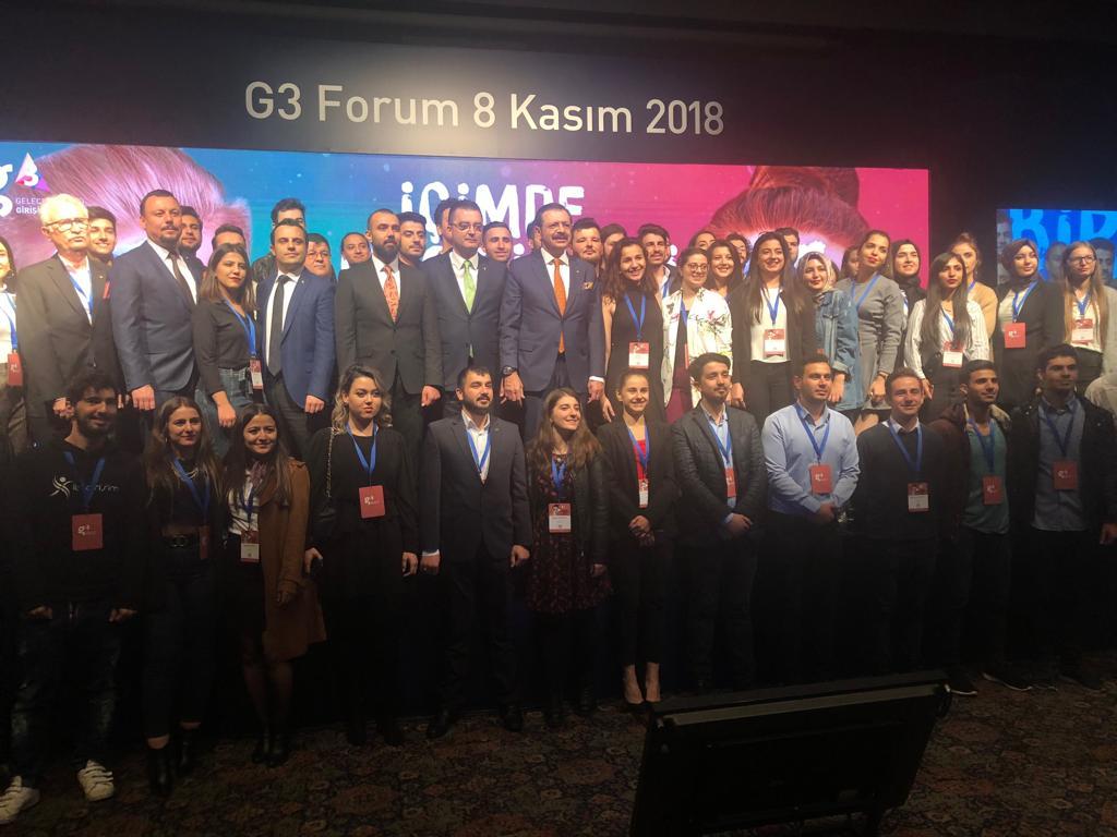 UTSO,  300  UŞAK  ÜNİVERSİTESİ  ÖĞRENCİSİ  İLE  G3  FORUM'DA