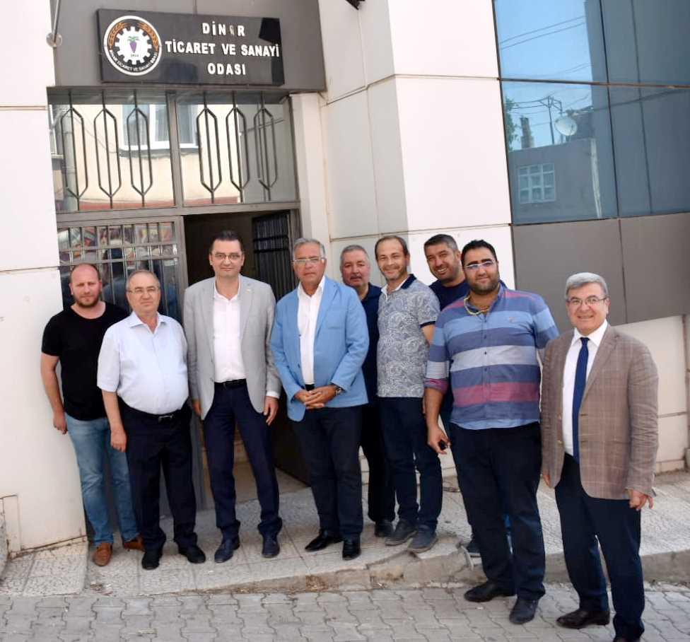 UTSO'DAN DİNAR TİCARET VE SANAYİ ODASI'NA ZİYARET