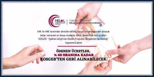 """""""HELAL"""" BELGESİNE KOSGEB DESTEĞİ"""