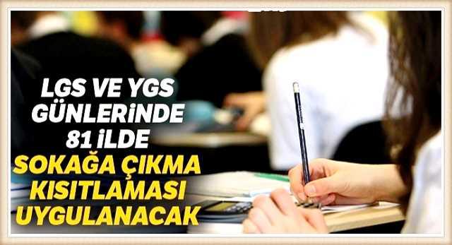 LGS VE YKS TEDBİRLERİ GENELGESİ