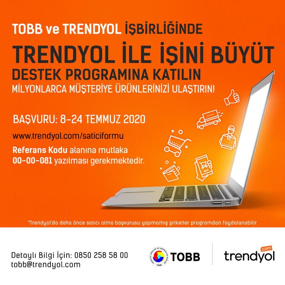 TOBB VE TRENDYOL'UN KOBİ DESTEK PROGRAMI BAŞLIYOR